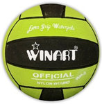 Winart waterpolobal mini-polo maat 3 lime-zwart