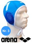 Arena waterpolocap blauw nummer 3
