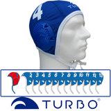 *Voordeelbundel* Turbo waterpolo cap (size s/m) team set blauw 13 stuks_