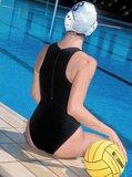 *gratis mini-polobal* Waterpolobadpak Epsan Gold-line zwart maat M-36 op=op_