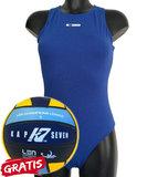 opruiming *showmodel* Waterpolo badpak FR36-D34-S Epsan blauw+gratis waterpolobal_