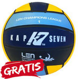 opruiming showmodel Waterpolo broek FR85-D5-L Epsan blauw+gratis waterpolobal_
