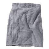 BECO Saunakilt voor heren, klittenband, zakje, ca. 54 cm, grijs**_