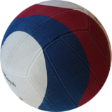 Winart waterpolo bal Swirl maat 5 rood wit blauw_