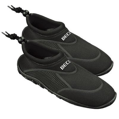 *Outlet* BECO Neopreen surf- en zwemschoen, zwart, maat 47