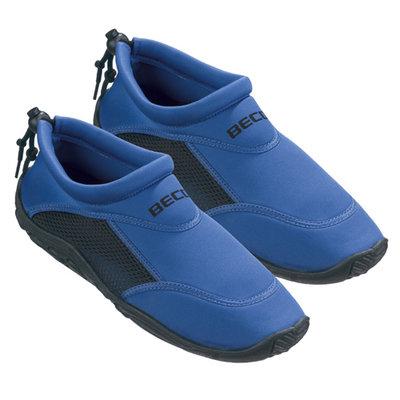 *Outlet* BECO Neopreen surf- en zwemschoen, blauw/zwart, maat 47
