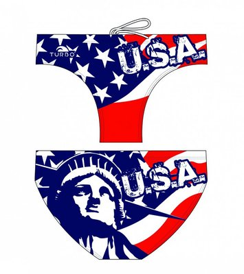 *Special Made* Turbo Waterpolo broek Usa Liberty (levertijd 6 tot 8 weken)
