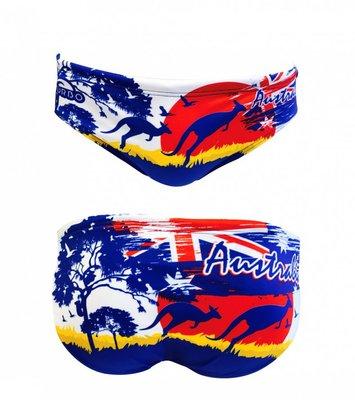 *Special Made* Turbo Waterpolo broek AUSTRALIA LANDSCAPE (levertijd 6 tot 8 weken)