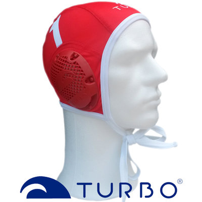 *Outlet* Turbo Waterpolocap Keeper Rood Wit nr.13