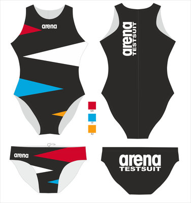 Arena M Waterpolo Brief FITTING SET (11 Pcs) Ned allover