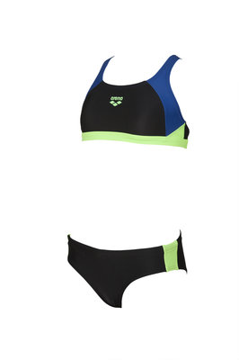 Arena G Ren Two Pieces black-royal-shiny-green 10-11