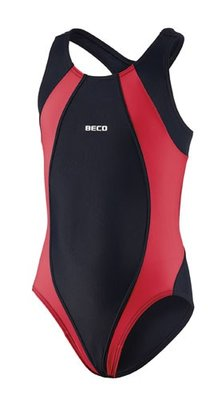 Beco meisjes badpak, zwart/rood kindermaat 116