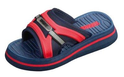 *OUTLET* BECO Eva kinder slipper met voetbed, donker blauw, maat 26