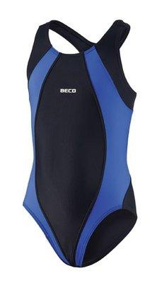 Beco meisjes badpak, zwart/blauw