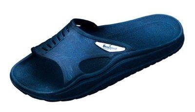 *OUTLET* BECO Sauna slipper met anti slip zool, donker blauw, 45-46