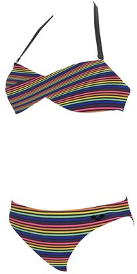 *OUTLET* Bikini Arena rainbow twist bandeau black 42