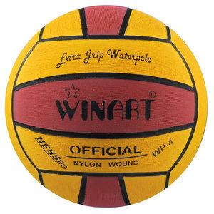 *niet meer leverbaar* Winart waterpolo bal dames / jeugd maat 4 geel-rood