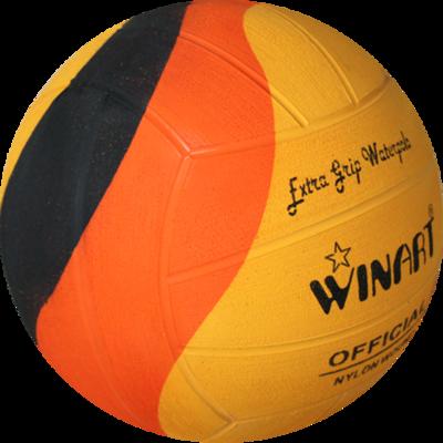 Winart waterpolo bal dames Swirl oranje-geel-zwart