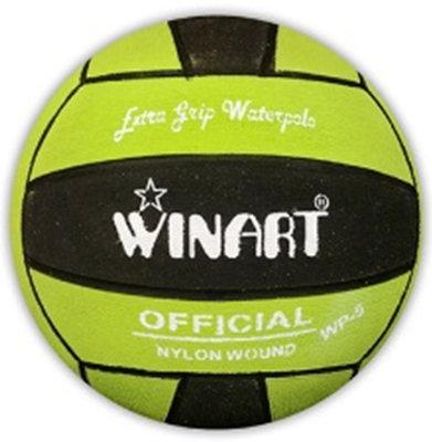 *niet meer leverbaar* (10+prijs) Winart waterpolobal mini-polo maat 3 lime-zwart