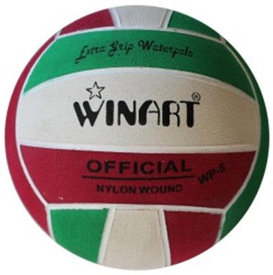 *niet meer leverbaar* (10+prijs) Winart waterpolobal maat 5 rood-wit-groen