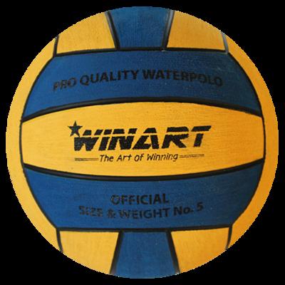 Winart waterpolobal PRO maat 5 geel blauw