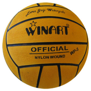 Winart waterpolobal maat 5 geel
