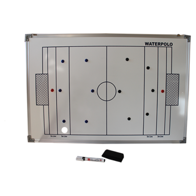 *populair* Clubhuis / kleedkamer waterpolo taktiekboard Winart 90 x 60cm