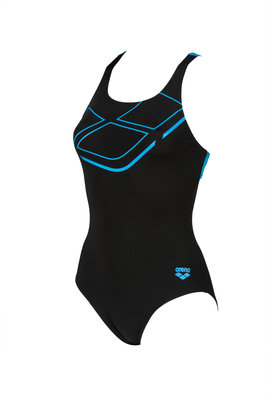 Arena W Essentials Swim Pro Back One Piece black-turquoise 40