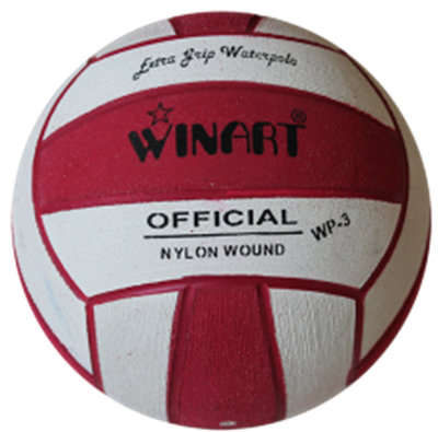Winart waterpolo bal mini-polo maat 3 rood-wit