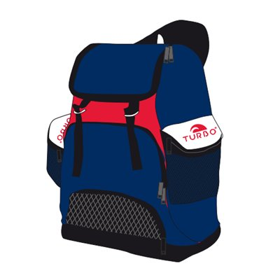 *showmodel* Turbo Waterpolo Luxe Rugzak Draco Navy Red 30L op=op