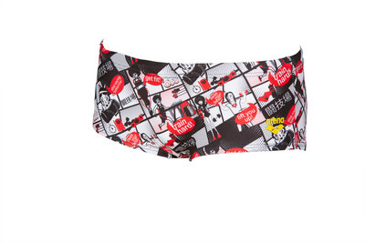 Arena M Comics Race Low Waist Short red-multi 85