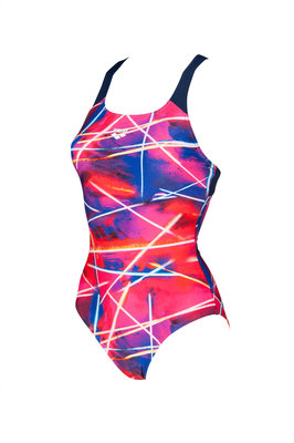 Arena W Light Beams Swim Pro Back One Piece navy-multi 38
