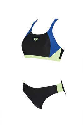 Arena W Ren Two Pieces black-royal-shiny-green 42