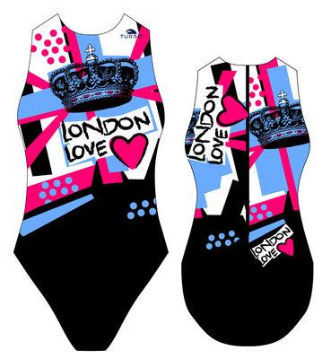 *Special Made* Turbo Waterpolo badpak London Love (levertijd 6 tot 8 weken)