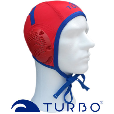 *populair* Turbo Waterpolo cap (size s/m) keeper rood blauw nummer 1