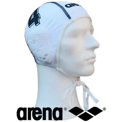 *showmodel* Arena waterpolo cap (size s/m) wit nummer 2 op=op