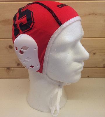 *showmodel* Arena waterpolo cap keeper rood blauw nummer 15 op=op
