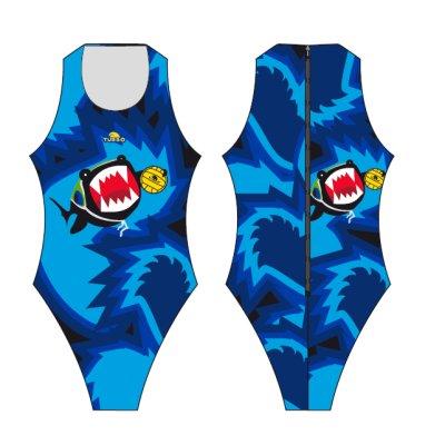 *Special Made* Turbo Waterpolo badpak shark (levertijd 6 tot 8 weken)