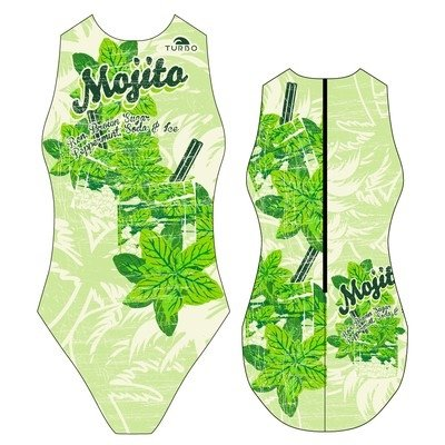 *Special Made* Turbo Waterpolo badpak MOJITO  (levertijd 6 tot 8 weken)