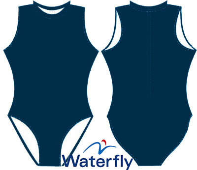 *gratis mini-polobal* Waterfly Waterpolobadpak dubbellaags rits navy FR36-D34-S op=op