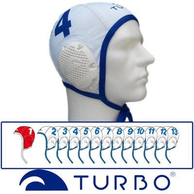 *Voordeelbundel* Turbo Waterpolo Cap (size s/m) team set wit 13 stuks