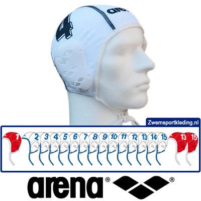 *Voordeelbundel* Arena waterpolo cap (size s/m) team set wit 17 stuks