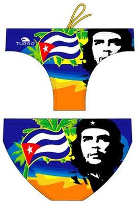 *gratis mini-polobal* showmodel Turbo waterpolo broek Che Cuba FR90   D6   XL