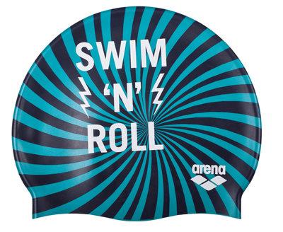Arena Print Jr swimnroll-navy