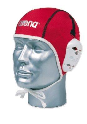 Arena Water Polo Cap 1-15 Fina + Len white/red