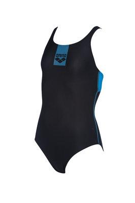 Arena G Basics Jr Swim Pro Back One Piece black-turquoise 8-9Y