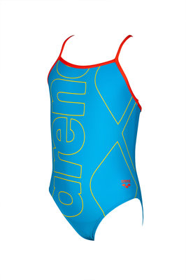 Arena Kids Girl One Piece turquoise-nectarine 4-5Y