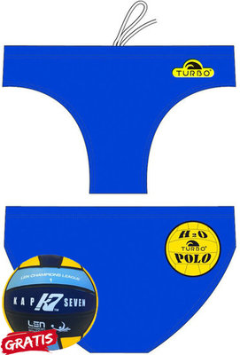 *gratis minipolobal* showmodel Turbo waterpolobroek Basic royal 3XL | D8 | FR100