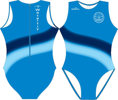 Women Waterpolo Swimsuit Waterfly wave