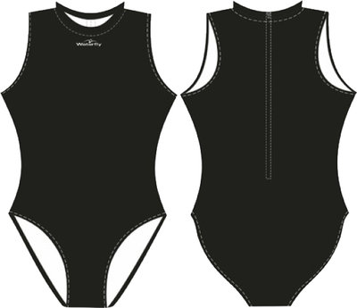 Women Waterpolo Swimsuit Waterfly Futura black